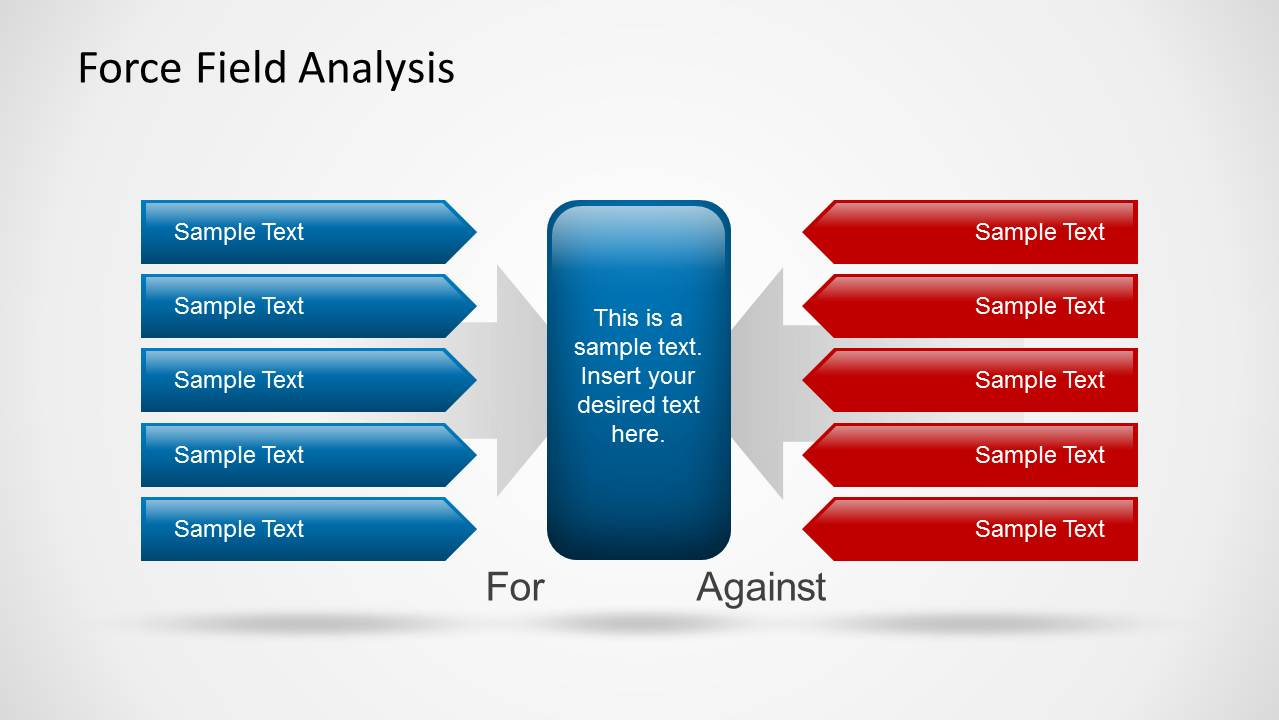 force field analysis diagram template - force field analysis powerpoint template slidemodel