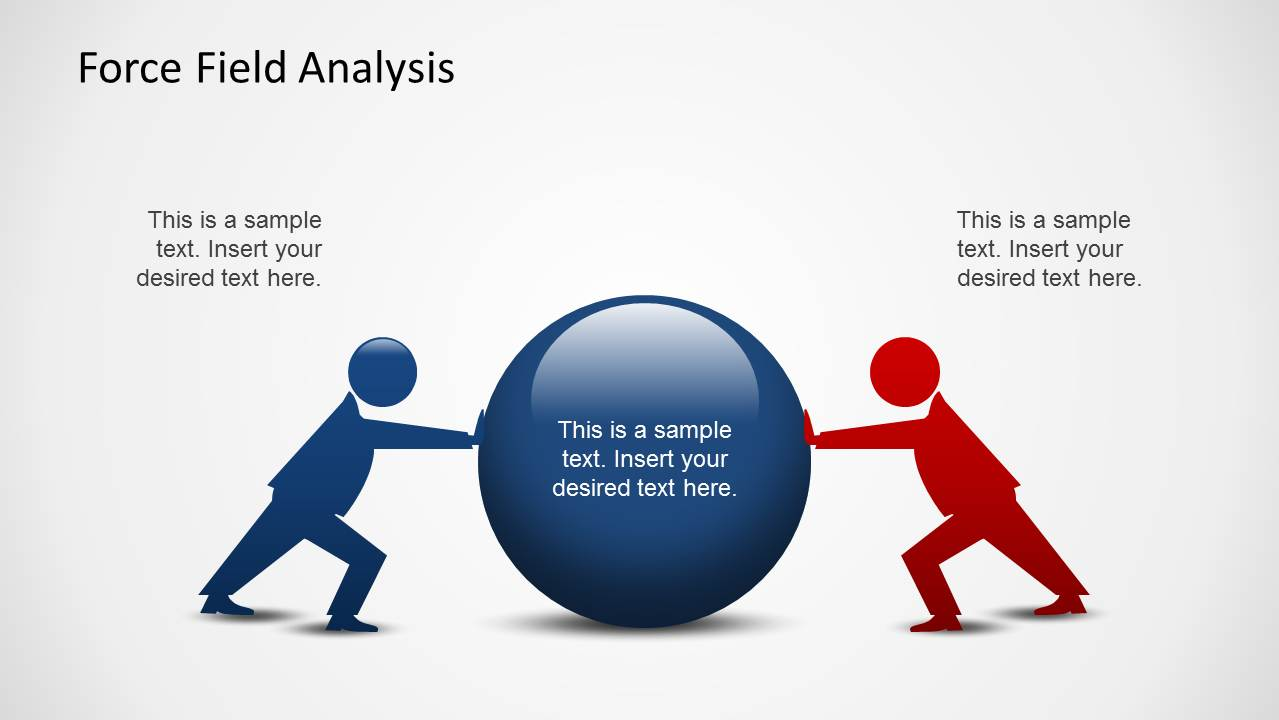 Force field analysis powerpoint template slidemodel simple force field analysis slide design with illustration two opposite forces powerpoint template 2 forces powerpoint template slide design pooptronica Gallery