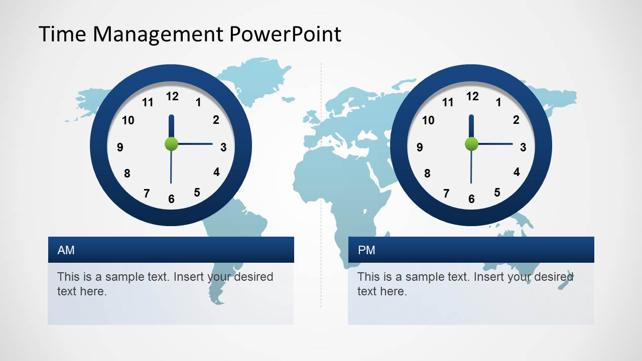 time management powerpoint template slidemodel