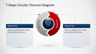 7 Steps Chevron Circular PowerPoint Diagram