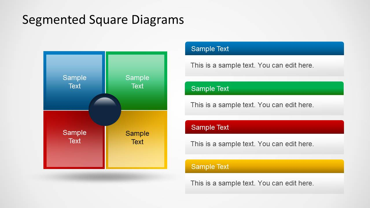 Colorful Square Table PowerPoint