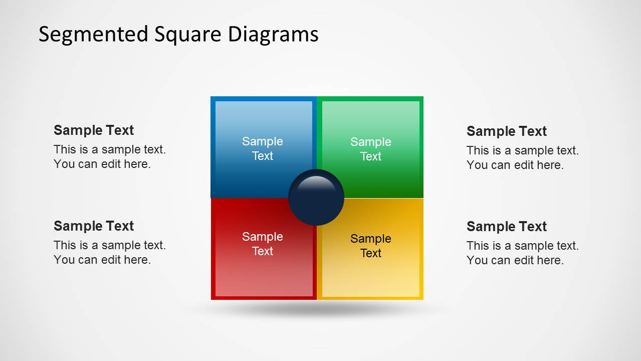 Squared Table Template for PowerPoint