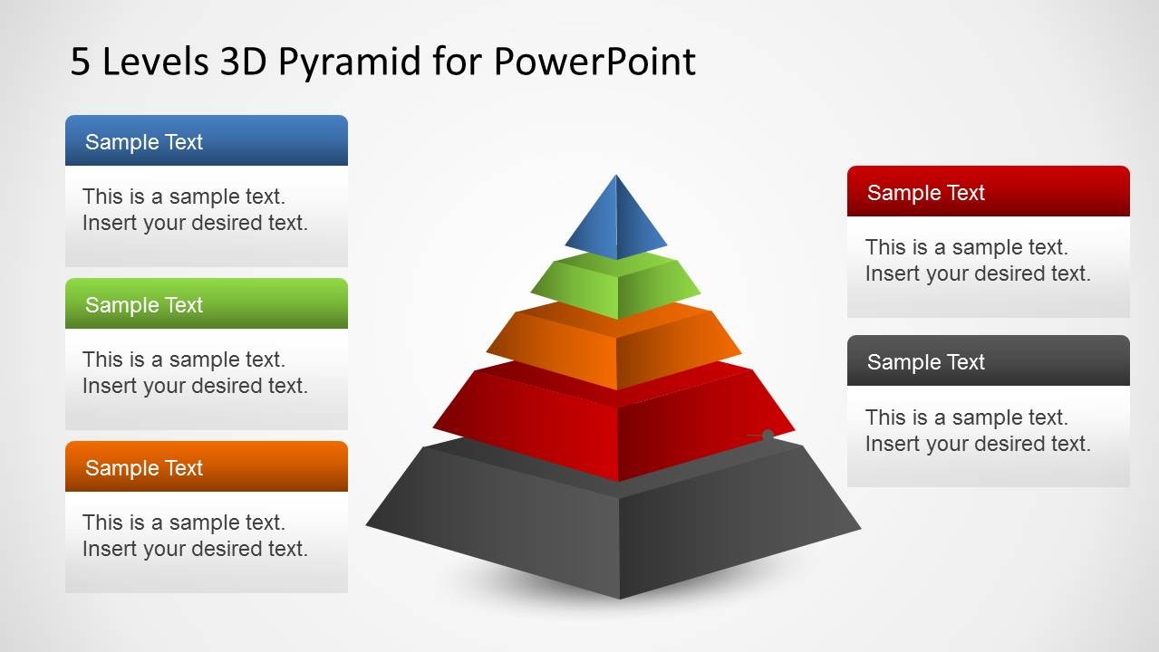 5 Level Pyramid 3D Effects PowerPoint