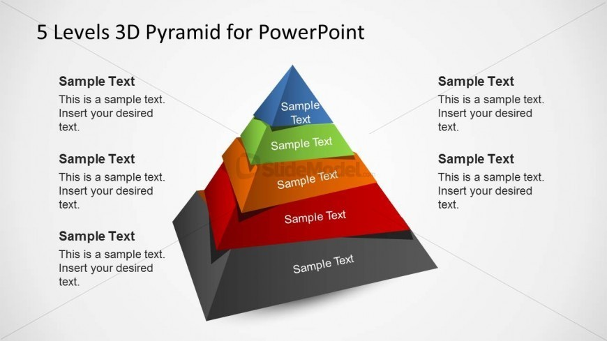 3D Pyramid Template For Powerpoint With 5 Levels - Slidemodel