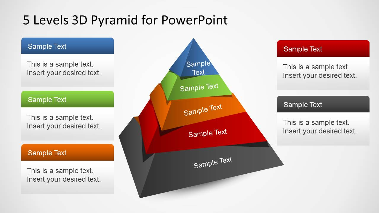5 Levels 3d Pyramid Template For Powerpoint