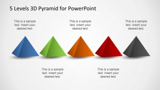 Five 3D Pyramid Designs for PowerPoint