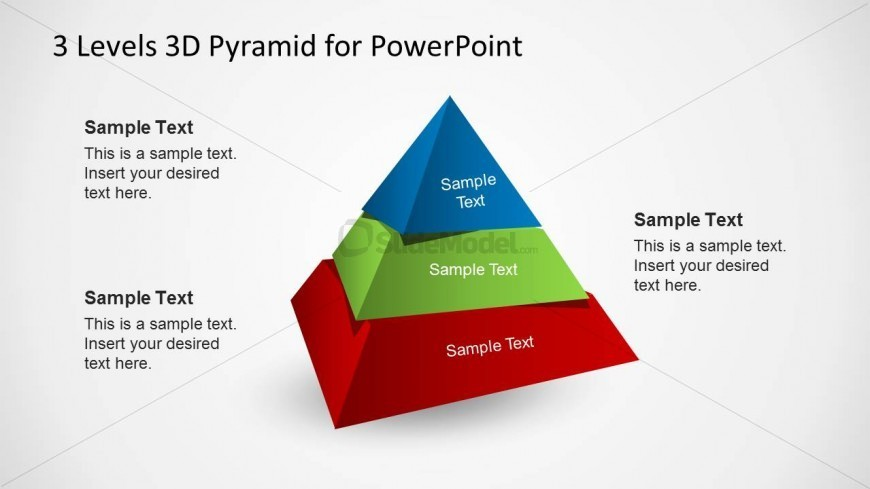 3D Pyramid Diagram Slide for PowerPoint