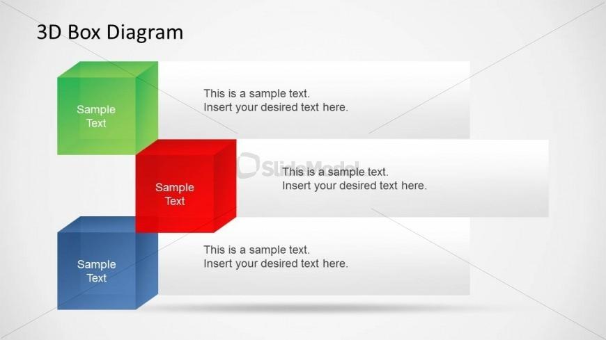 3 3d Boxes In A Powerpoint Slide Slidemodel