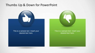 Thumbs Up & Down Slide Design for PowerPoint