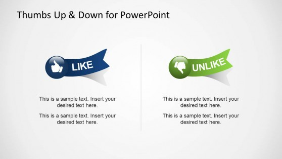 Thumbs Up & Down Like & Dislike Shapes for PowerPoint