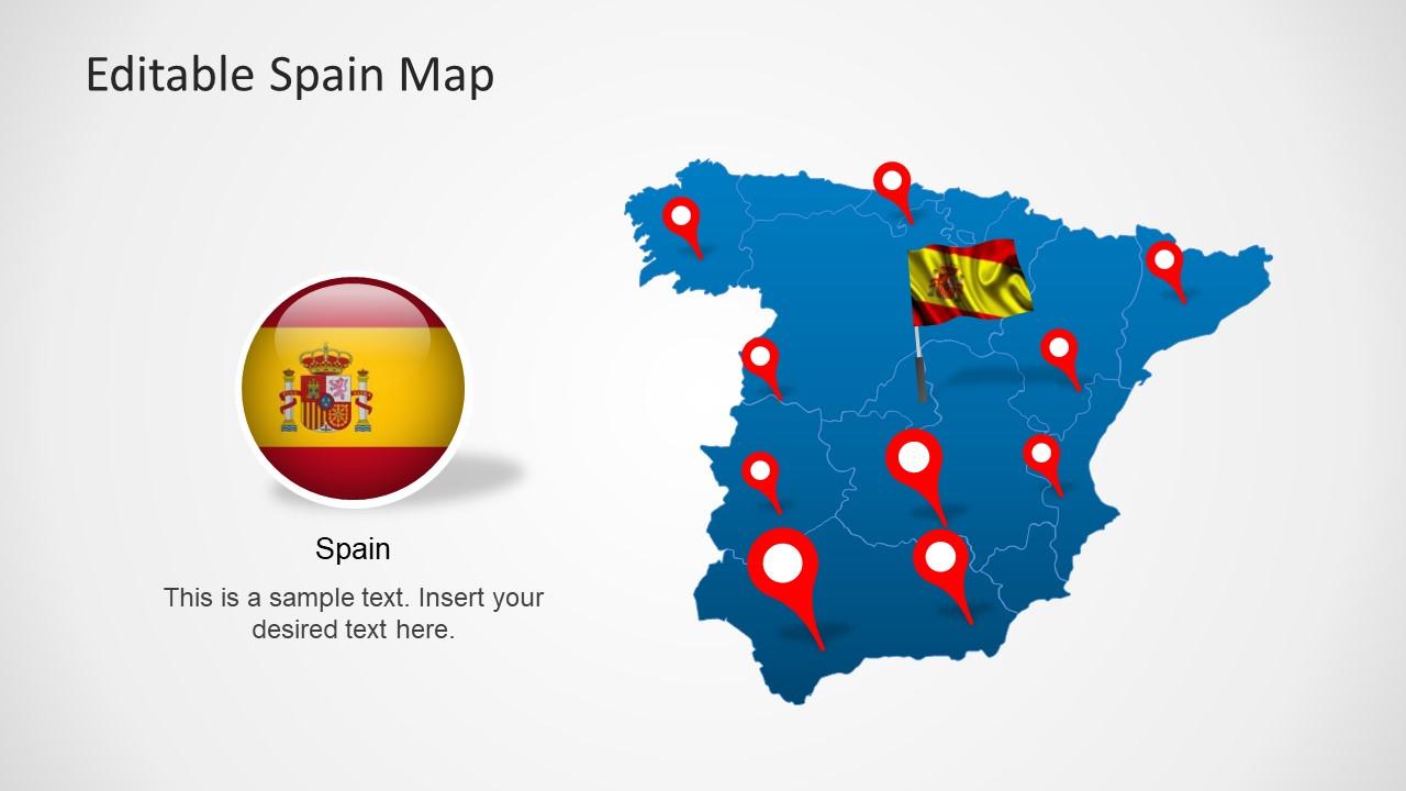 Editable Spain Map Template For Powerpoint Slidemodel