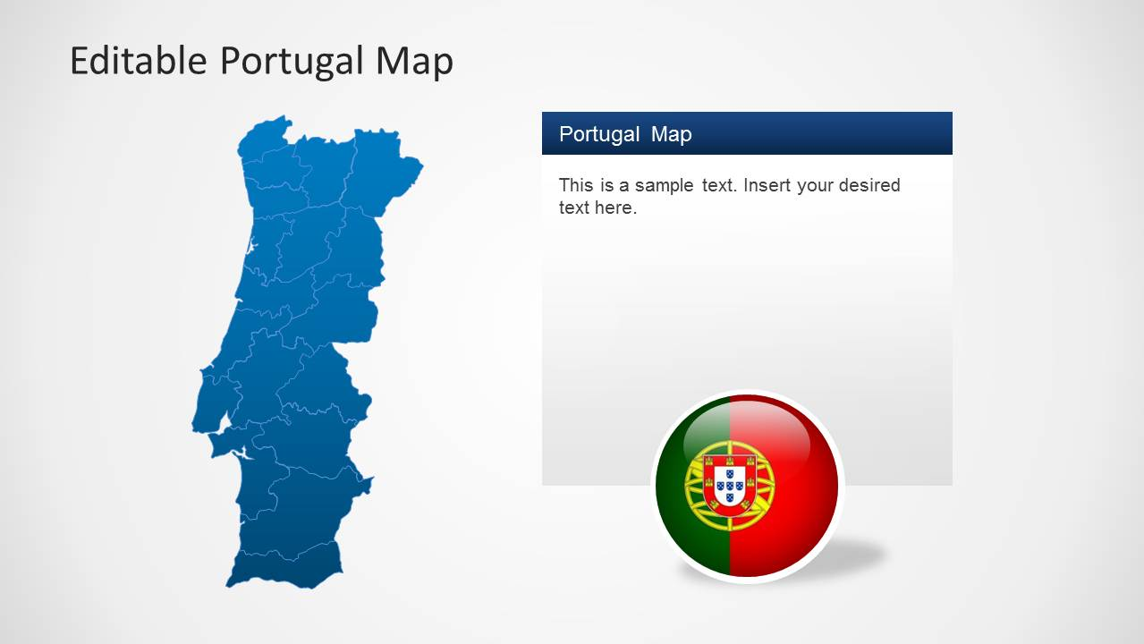 power point mapa portugal Editable Portugal Map Template for PowerPoint   SlideModel power point mapa portugal