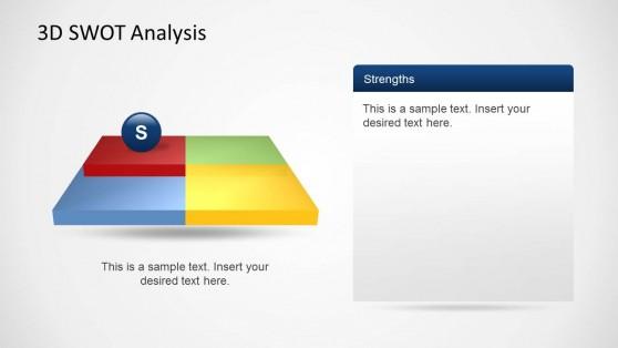 SWOT Strengths Slide Design Template for PowerPoint