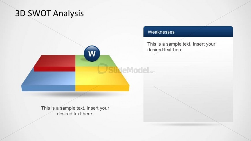 SWOT Weaknesses Slide Design Template for PowerPoint