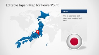 Map of Japan Illustration for PowerPoint