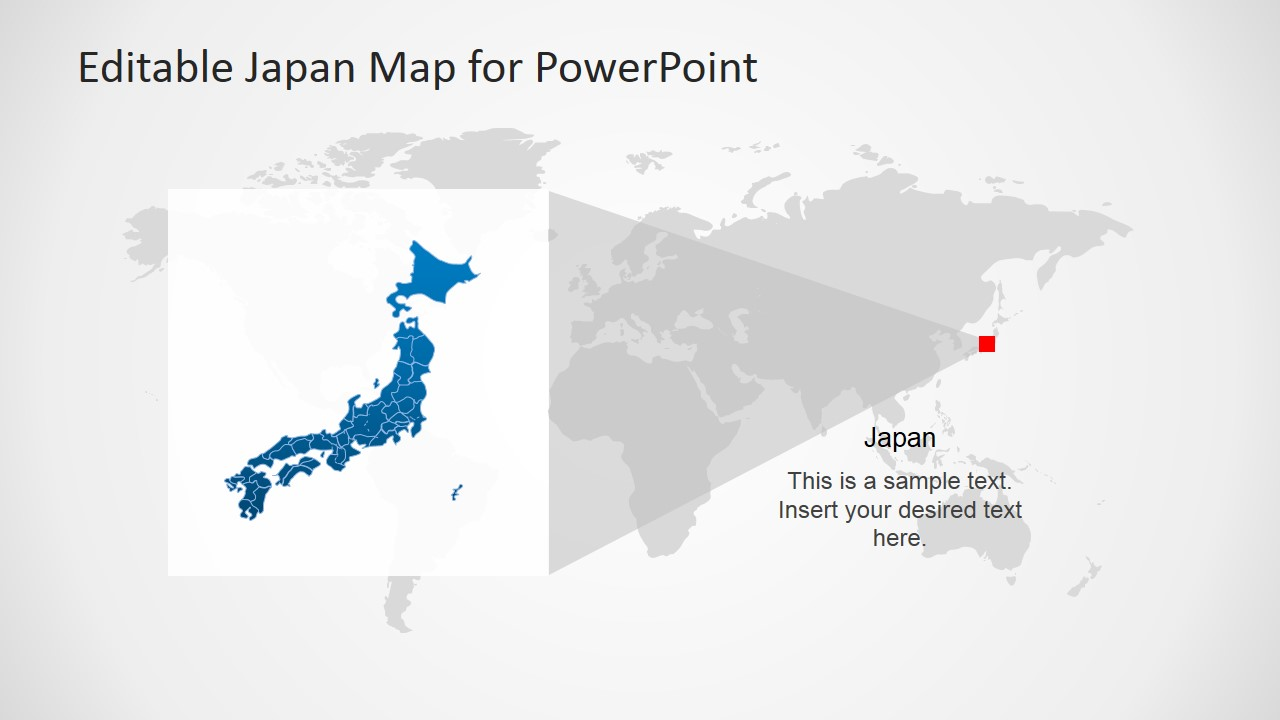 Japan Map Template For Powerpoint