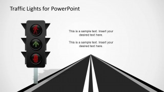 LED Traffic Lights and Road Slide Design for PowerPoint