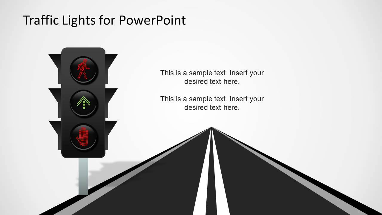 Traffic lights powerpoint template slidemodel led traffic lights and road slide design for powerpoint toneelgroepblik Images