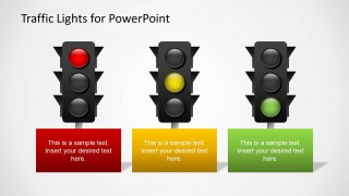 3 Traffic Lights Color Slide Design for PowerPoint