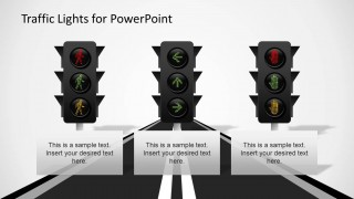 3 LED Traffic Light Shapes for PowerPoint
