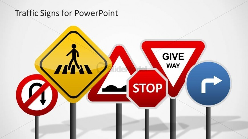 PowerPoint Shapes Featuring Traffic Signs