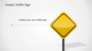 Editable PowerPoint Yellow Traffic Sign