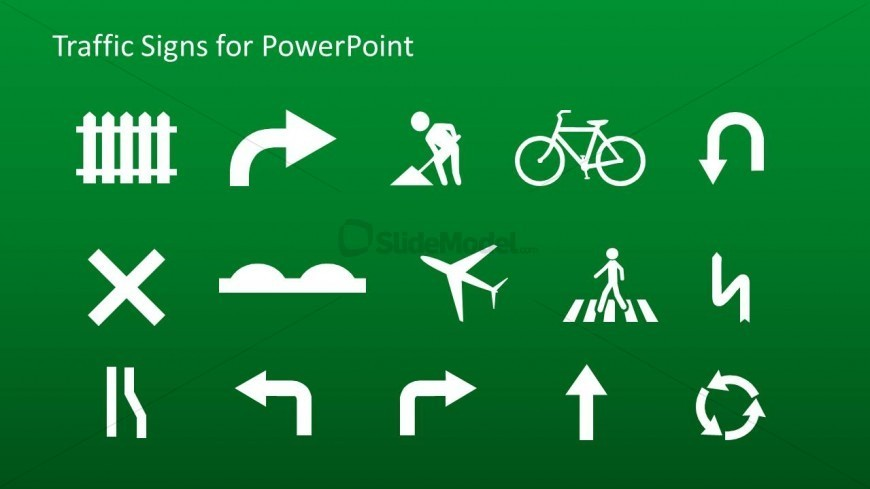 PowerPoint Icons Featuring Traffic Signs