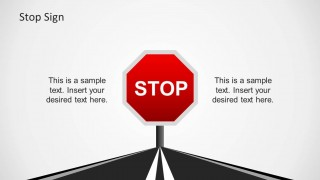 PowerPoint Stop Traffic Sign with Road Background