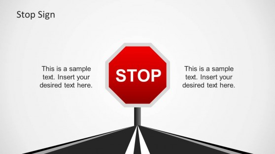 Red Stop Sign for PowerPoint Presentations