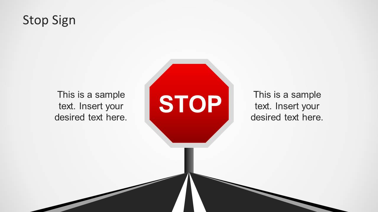 traffic signs template for powerpoint slidemodel