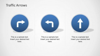 Blue Circular Traffic Signs Clipart for PowerPoint