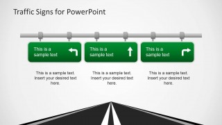 PowerPoint Green Highway Traffic Signs