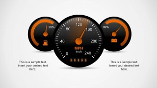 3 Speedometer Shape Designs for PowerPoint