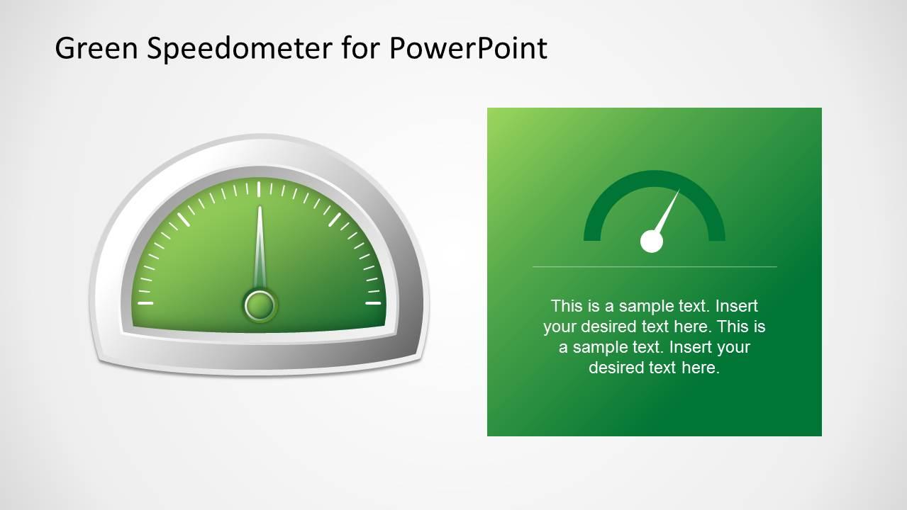 green speedometer template for powerpoint slidemodel
