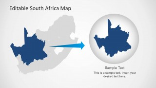 South africa map template for powerpoint slidemodel south africa map template for powerpoint provides a complete map of the beautiful african country with useful clipart images like the flag of the republic toneelgroepblik Images