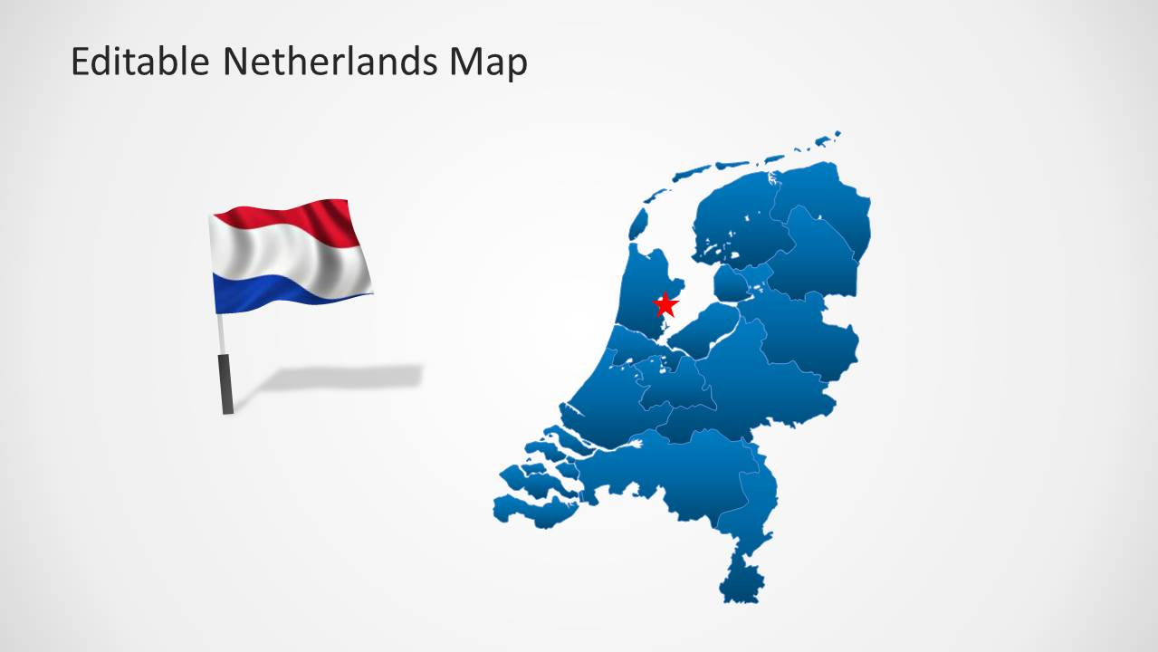 Editable Netherlands Map Template for PowerPoint