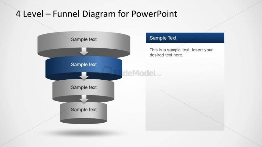 4 Levels PowerPoint Funnel Diagram