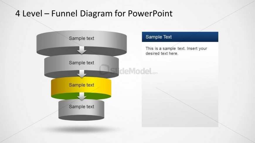 4 Level Funnel Diagram Template for PowerPoint