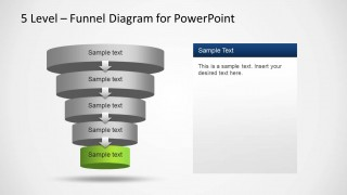 5 Level Funnel Diagram Design for PowerPoint