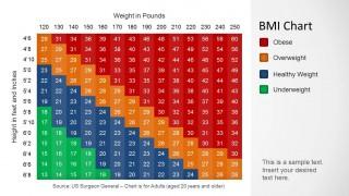 BMI Chart Template for PowerPoint - SlideModel