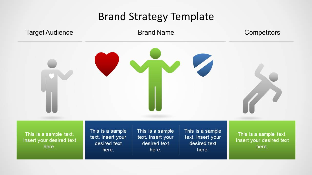 brand strategy template for powerpoint - slidemodel, Presentation templates
