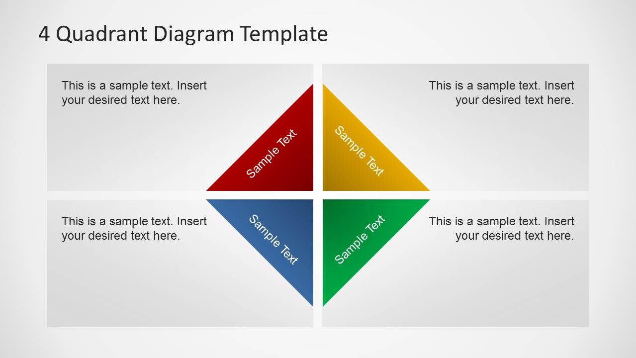quadrants diagram template for powerpoint   slidemodel quadrants diagram template for powerpoint