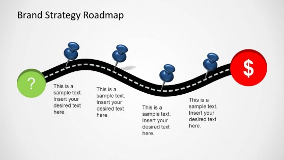 powerpoint road map slide template .