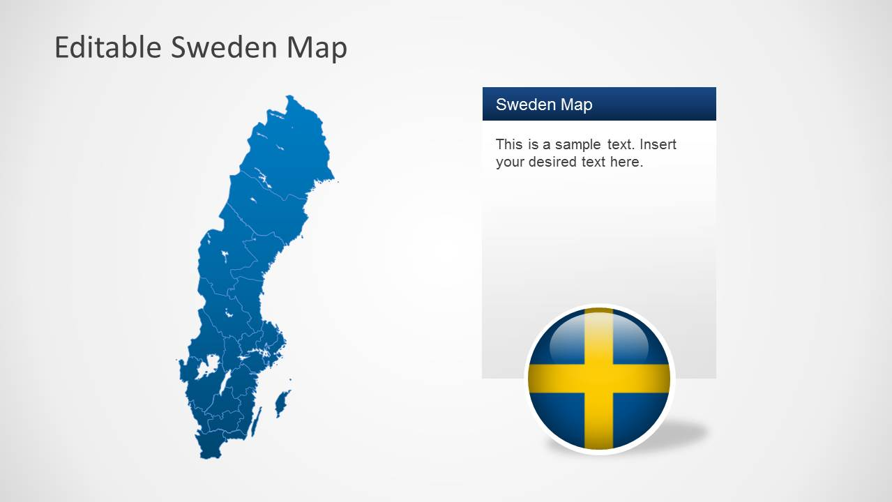Editable Sweden Map Template For PowerPoint SlideModel - Sweden map images