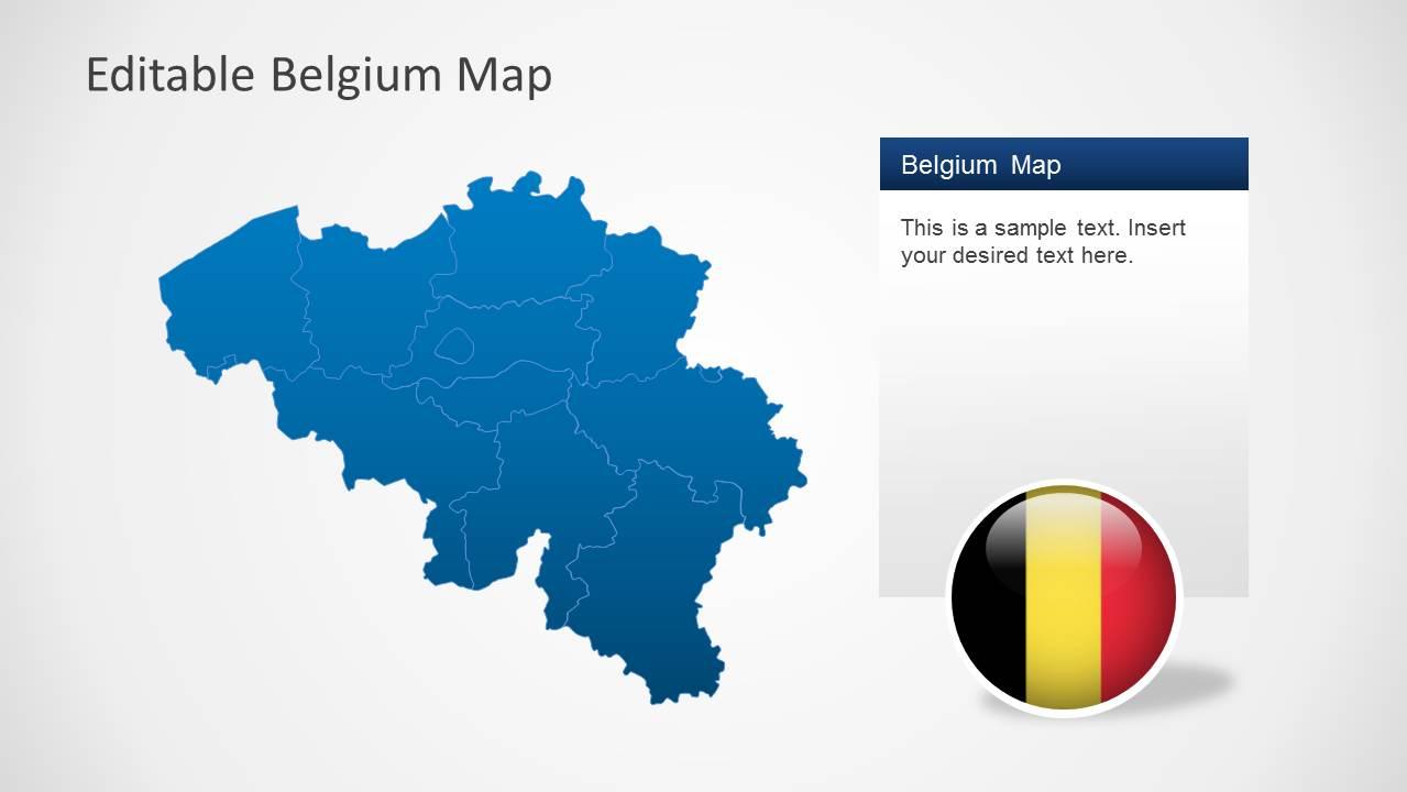 Editable Belgium Map Template for PowerPoint - SlideModel