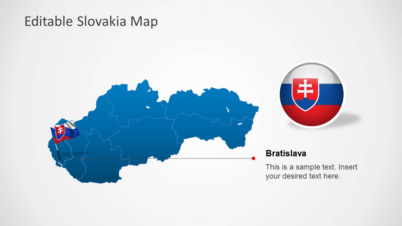 editable slovakia map template for powerpoint