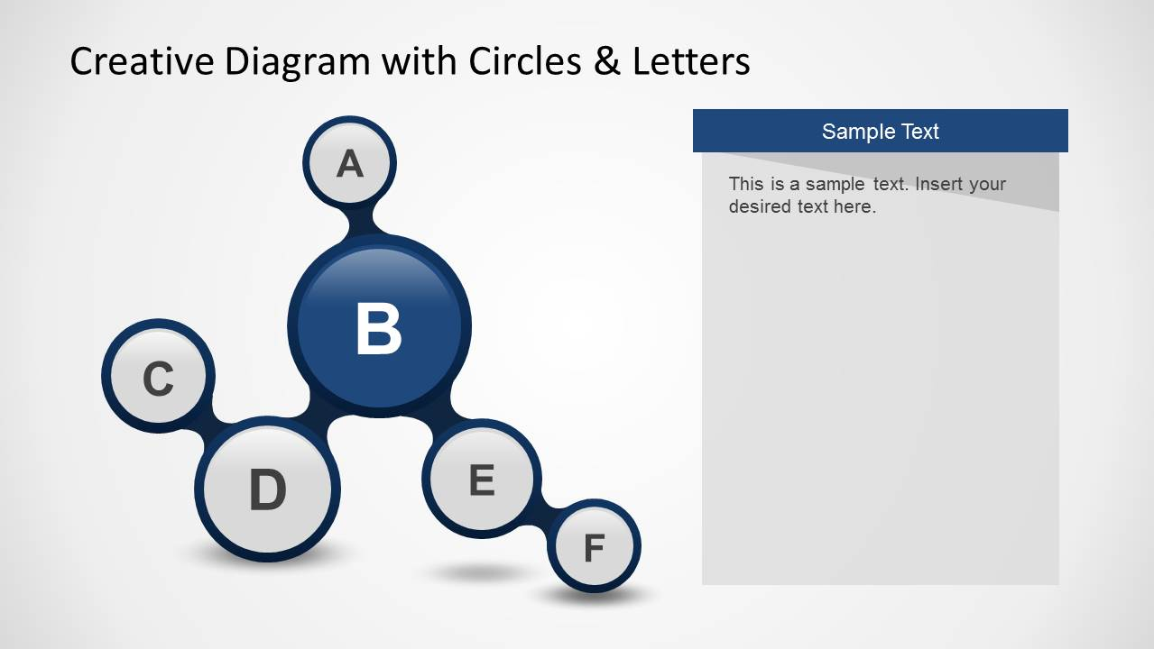 Creative Diagram with Circles & Letters for PowerPoint ...
