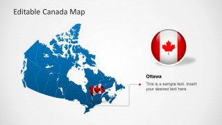 Map Of Canada Template.Editable Canada Map Template For Powerpoint Slidemodel