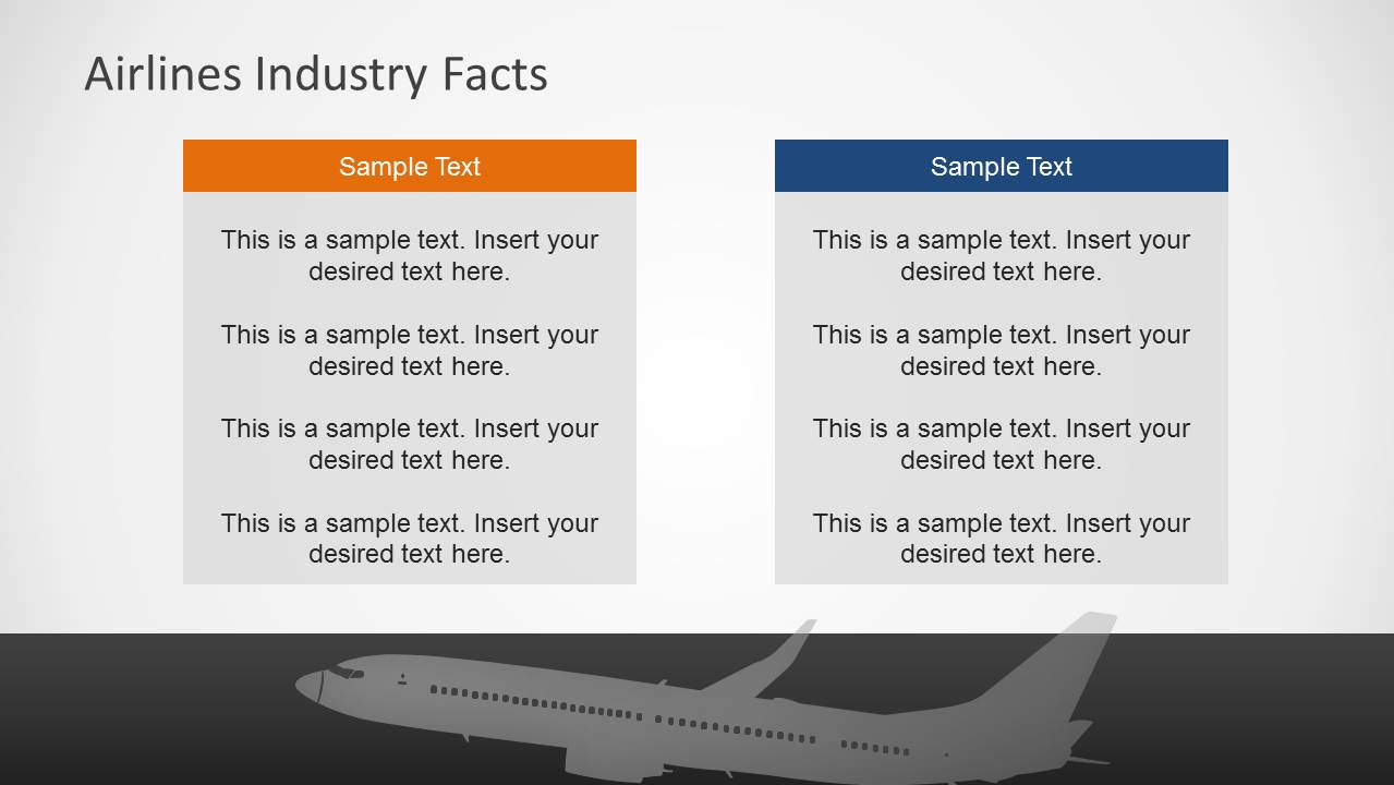 airlines industry powerpoint template
