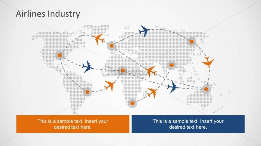Flight path powerpoint slide design with world map slidemodel flight path powerpoint slide design with world map toneelgroepblik Image collections